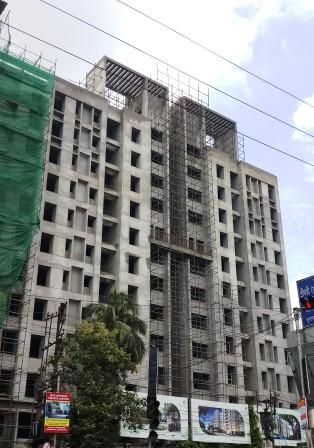 Block 8: 8th,9th,10th & 11th floor Internal plaster completed as on 31/8/19