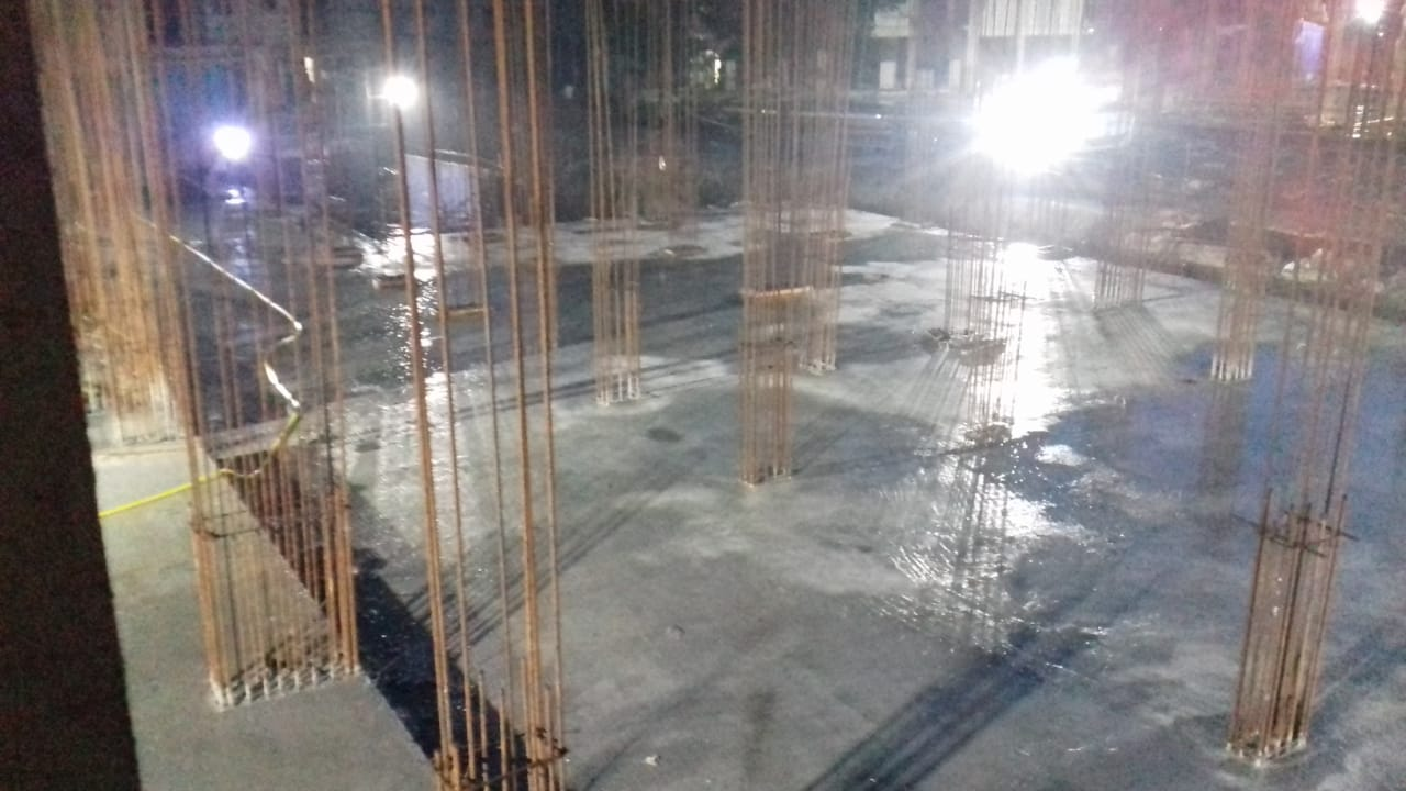 Block 12: Ground floor  Slab casting completed as on 24/7/19