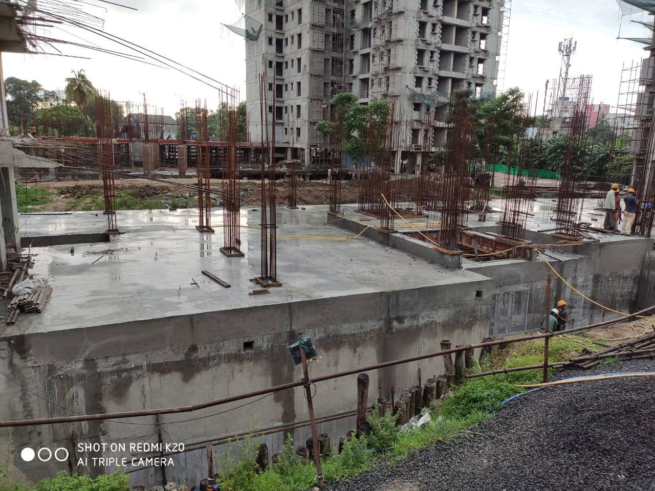 Block 2: Ground floor Slab casting completed on 10/08/19