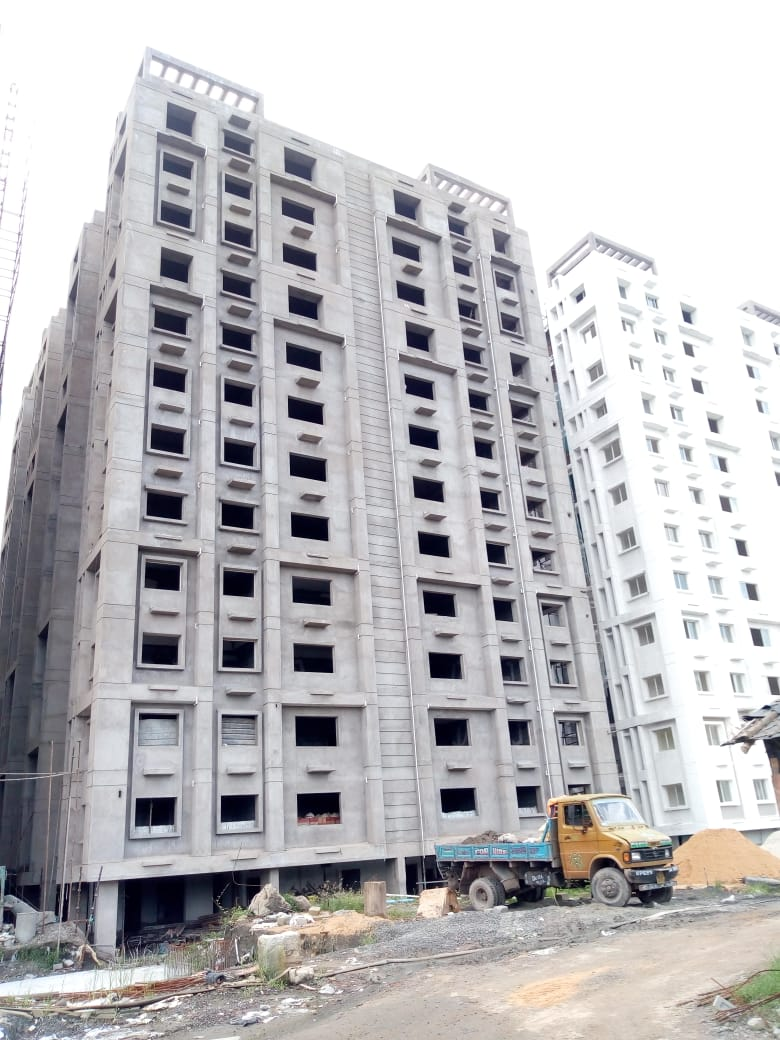 Block 31: Outside plaster has been done as on 30/8/19