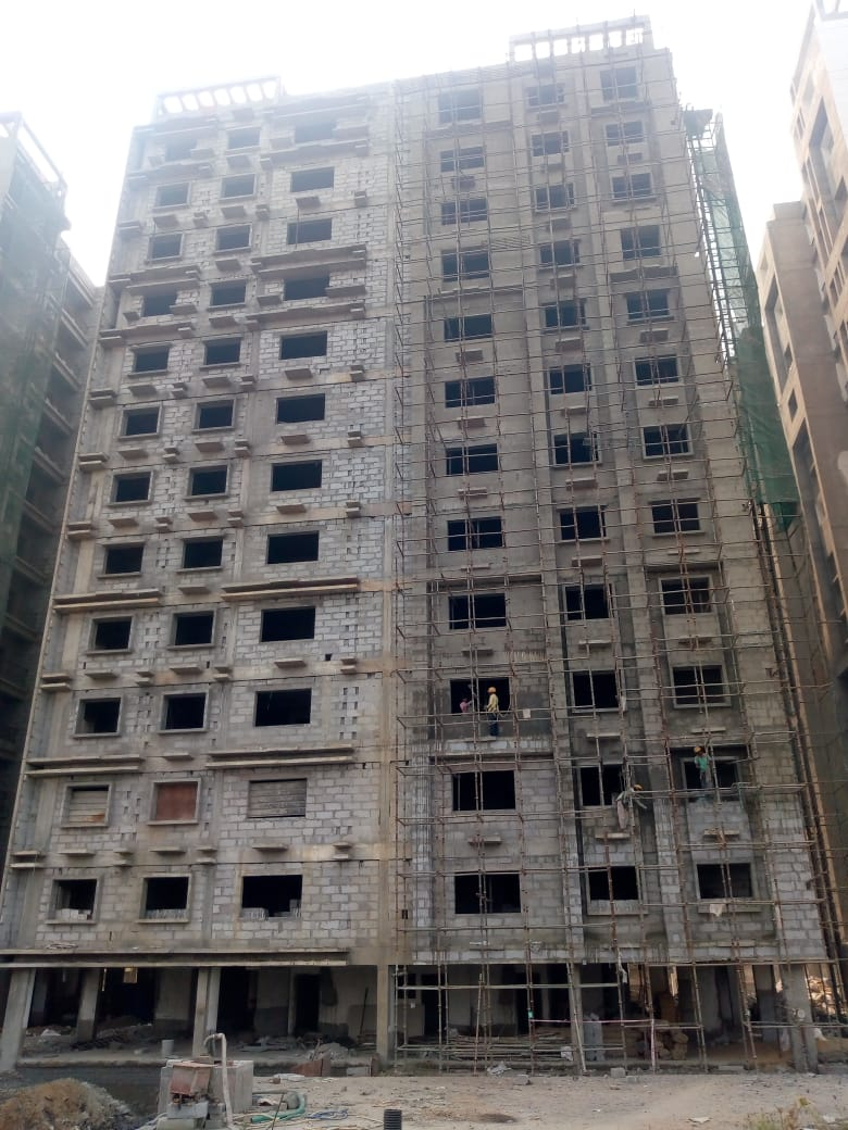 Block 32 : Flooring complete upto 11th Floor & 75% plaster complete as on 1/12/19