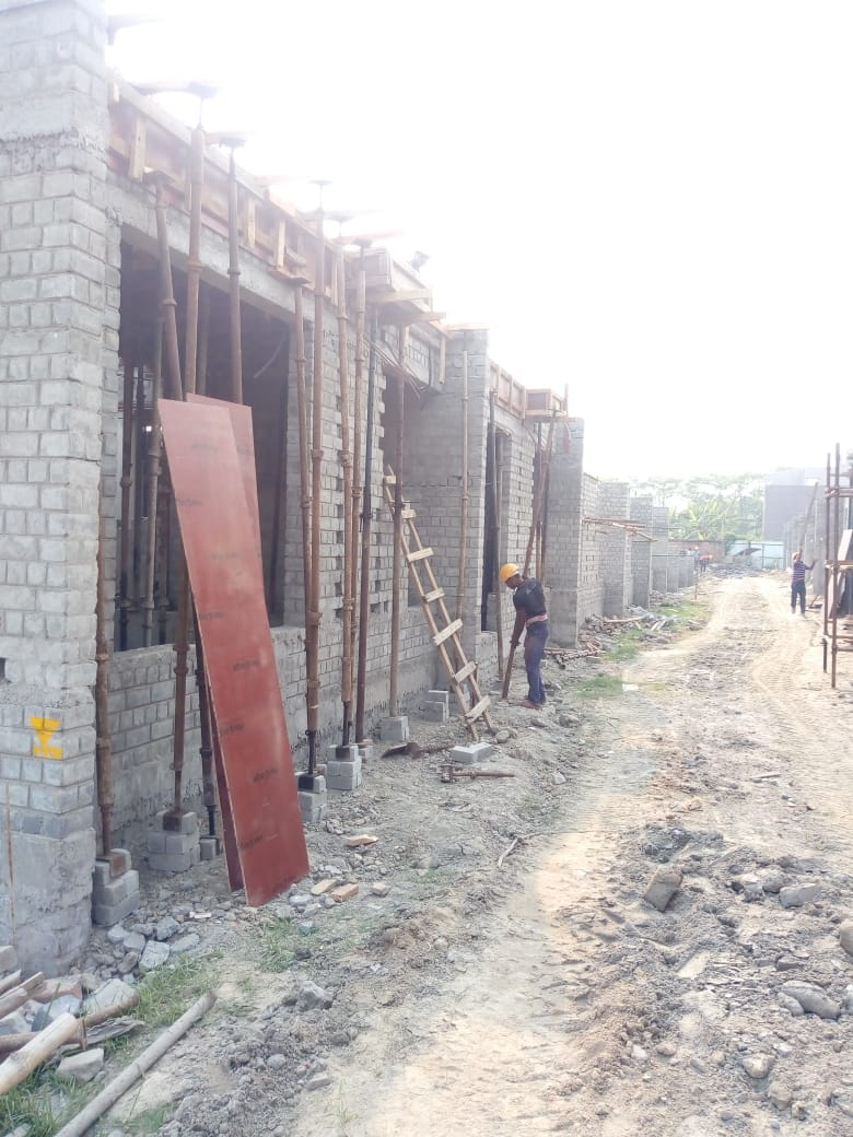 CLUSTER 33 (BUNGALOW NO. 71-81) :  Foundation and Ground floor slab casting has been completed as on 31/03/2020