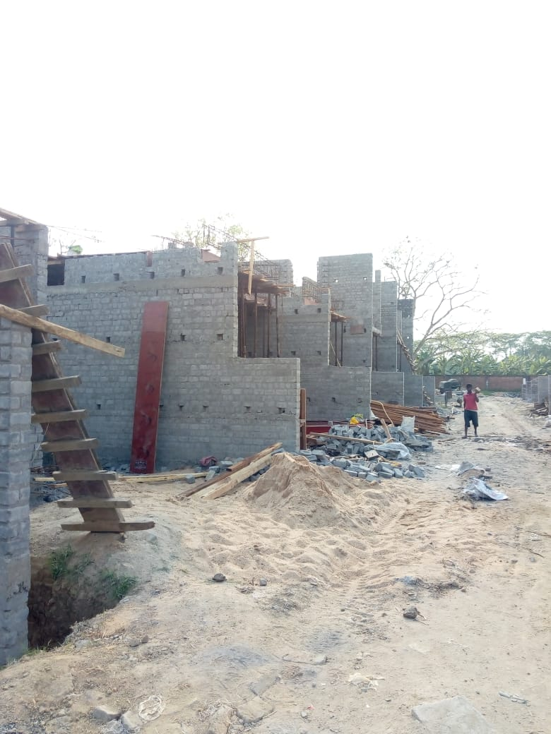 CLUSTER 27 (BUNGALOW NO. 107-110) :   Foundation and 1st floor slab casting of bungalow no. 110 has been completed as on 31/3/2020