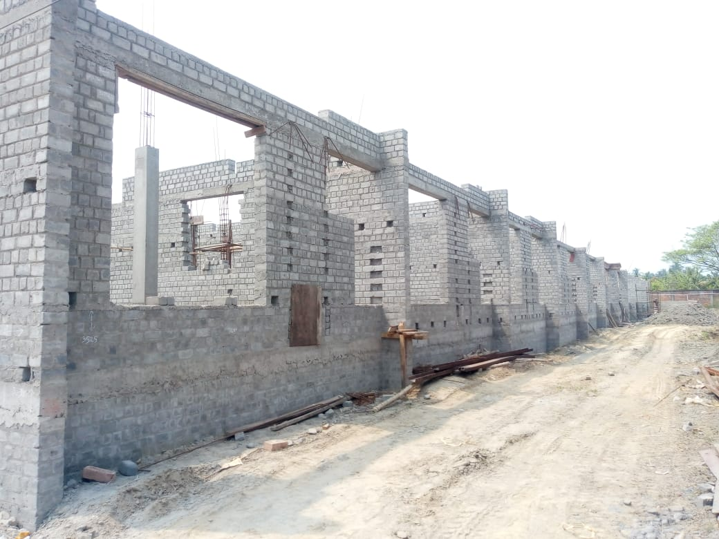 CLUSTER 14 (BUNGALOW NO. 199-210) :  Foundation and Ground floor slab casting has been completed as on 31/3/2020