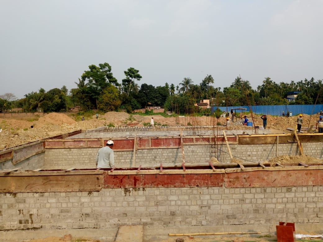 CLUSTER 28 (BUNGALOW NO. 128-137) : Foundation work in progress as on 31/03/2020