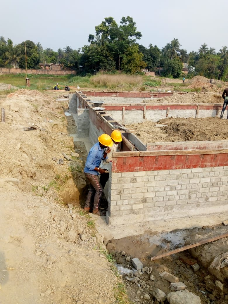 CLUSTER 35 (BUNGALOW NO. 82-83) : Foundation has been completed as on 31/03/2020