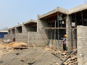 CLUSTER 19 (ROW HOUSE NO. 163-167): Foundation work and 1st floor slab casting of unit no. 163, 164, 165, 166 & 167 has been completed. Brickwork (upto 2nd floor) in progress as on 1.03.2021