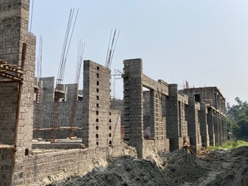 CLUSTER 17 (ROW HOUSE NO. 178-186) : Foundation/Ground floor slab casting has been completed. 1st floor slab of 178, 179, 180 & 181 has been completed. Roof slab of 178, 179 & 180 also completed. Bric