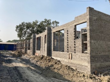 CLUSTER 22 (ROW HOUSE NO. 148-152): Foundation work has been completed and Brickwork upto 1st floor in progress as on 1.03. 2021.