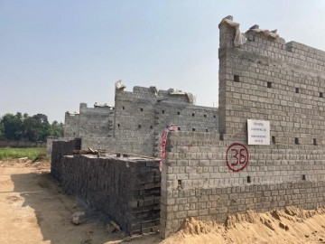 CLUSTER 36 (ROW HOUSE NO. 50-52): Foundation has been completed. Brickwork (upto 1st floor) in progress as on 1.03. 2021.