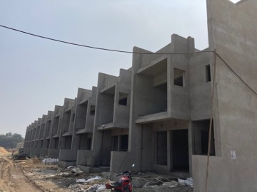 CLUSTER 34 (ROW HOUSE NO. 53-64): Foundation/Ground floor slab casting, 1st floor slab casting, Roof slab casting and Brick work of unit no. of 53,54,55,56,57,58,59,60,61,62,63 & 64 has been completed