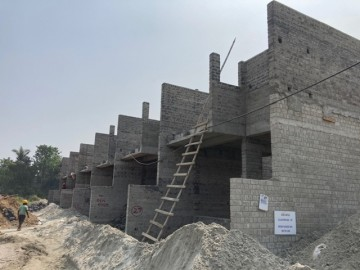 CLUSTER 29 (ROW HOUSE NO. 101-106): Foundation work  and 1st floor slab casting of row house no. of 101, 102, 103, 104, 105 & 106 has been completed. Brickwork (upto 2nd floor) in progress as on 1.03.