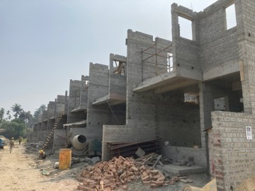 CLUSTER 23 (ROW HOUSE NO. 138-147): Foundation has been completed(EXCEPT ROW HOUSE NO. 138 & 139). 1st floor slab casting of 140, 141,142,143,144 145, 146 & 147 has been completed. 2nd floor brickwor
