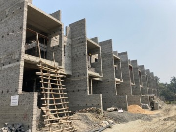CLUSTER 20 (ROW HOUSE NO. 168-177): Foundation has been completed(EXCEPT ROW HOUSE NO. 177). 1st floor slab casting of 168, 169, 170, 171, 172, 173, 174 & 175 has been completed. Also roof slab casti