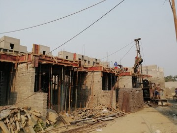CLUSTER 33 (ROW HOUSE NO. 71-81): Foundation/Ground floor slab casting has been completed and 1stfloor slab casting of row house no. of 71,72,73,74,75, 80 & 81 has been completed.  1st floor slab casting of row house no. 76, 77, 78 and 79 have been compl