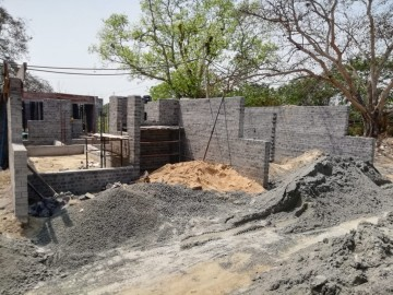 CLUSTER 27 (ROW HOUSE NO. 107-111): Foundation/Ground floor slab casting, 1st floor slab casting, Roof Slab casting and Brick Work of unit no. 107,108,109,110 & 111 has been completed. Finishing work