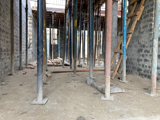 ground floor slab casting of row house no. 121  has been completed as on 19.03.2021
