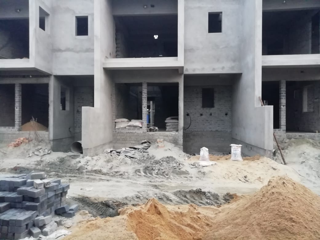 Ground floor slab casting of row house no. 187, 188 & 189  has been completed as on 19th March 2021