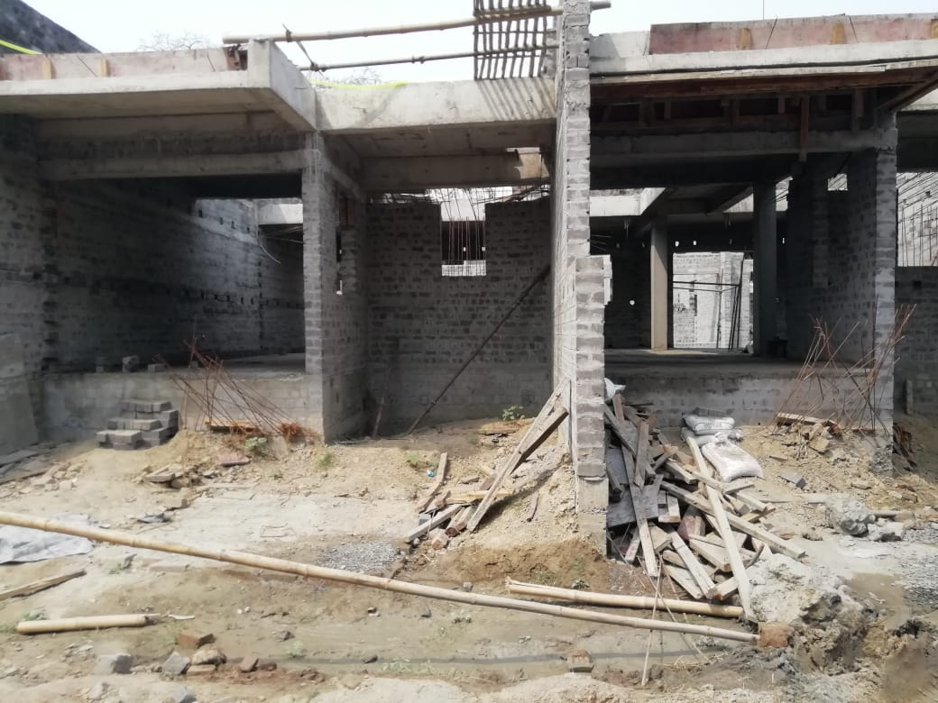 Ground floor slab casting of row house no. 163 & 164  has been completed as on 19.03.2021