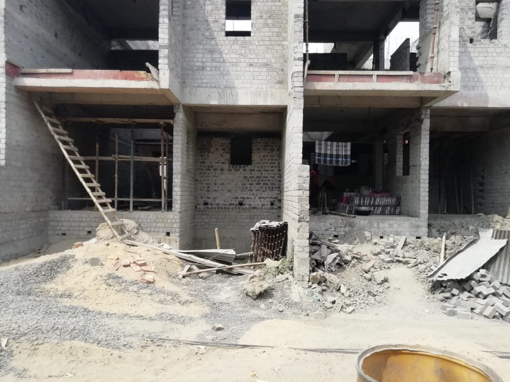 ground floor slab casting of row house no. 128 & 129  has been completed as on 20.03.2021