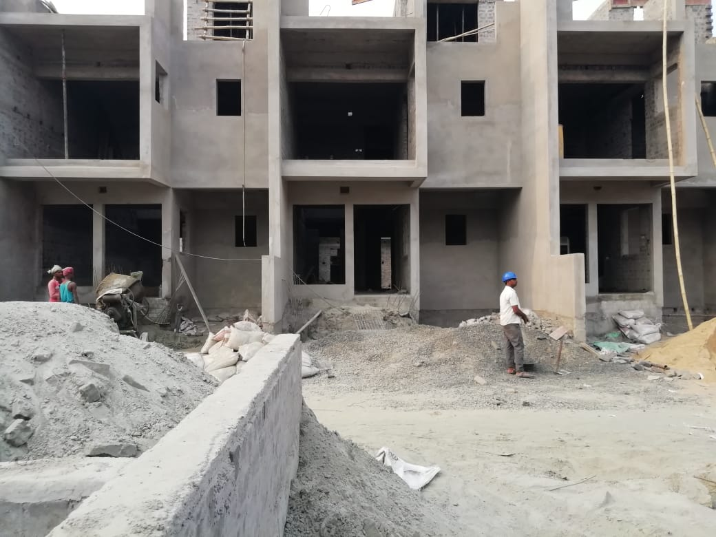 ground floor slab casting of row house no. 168, 169 & 170  has been completed as on 24.03.2021