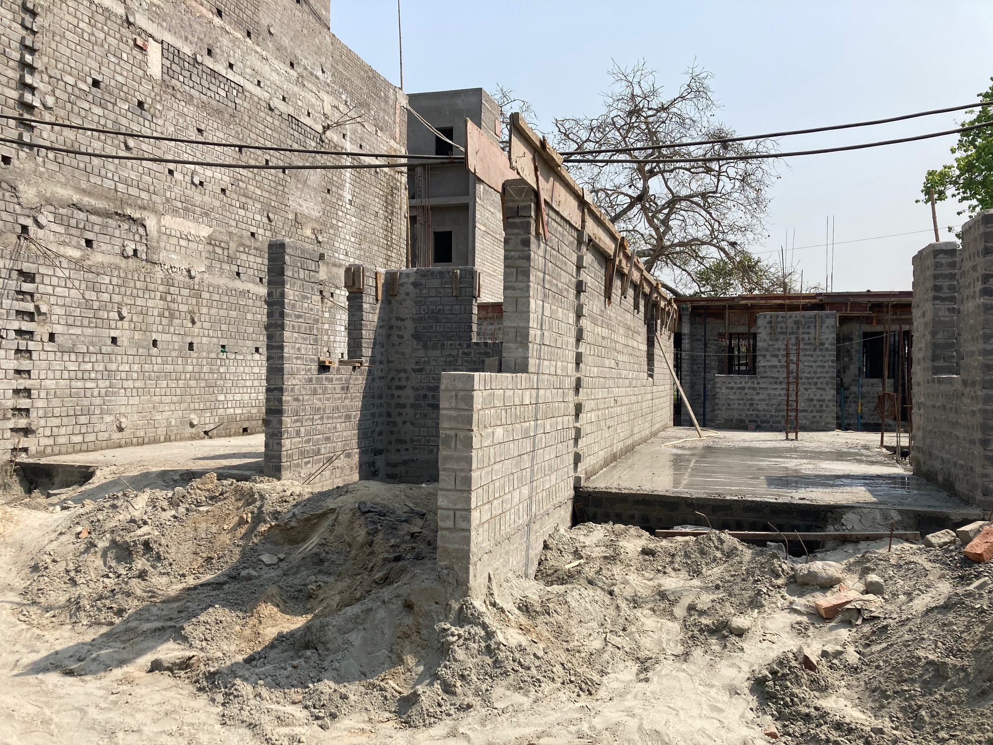 ground floor slab casting of row house no. 112 & 113 of cluster 27  has been completed as on 25.03.2021
