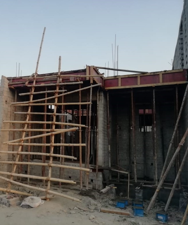 Row House no. 50: 1st floor slab casting of row house no. 50 have been completed as on 21.04.2021