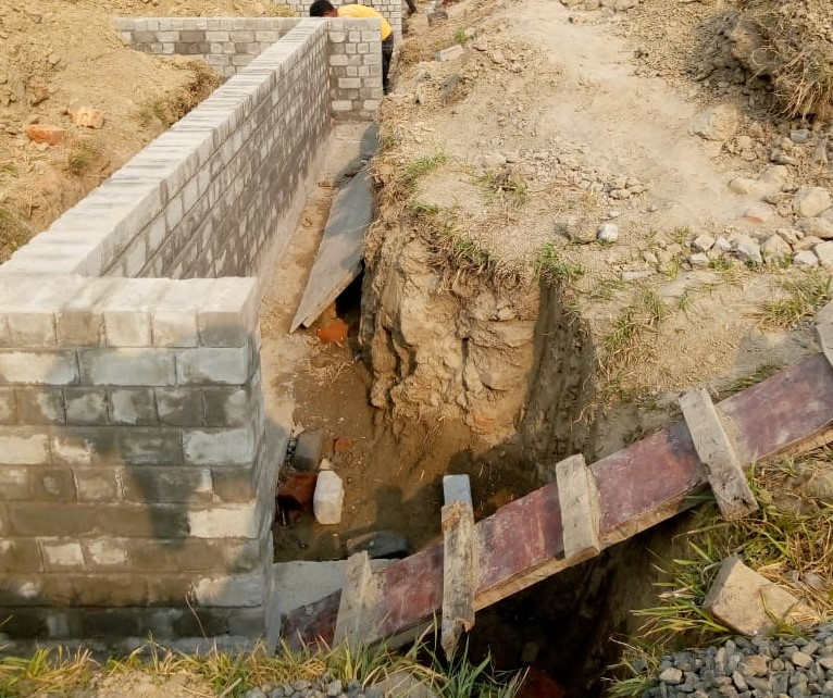 House no. 49: foundation work of row house no. 49 have been completed  as on 21.4.2021