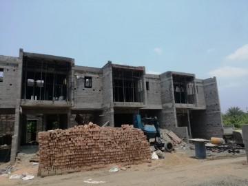 Ground floor slab casting of row house no. 8, 9, 10 & 11  has been completed and roof slab casting of row house no. 9, 10 and 11 have been completed as on 29.04.2021