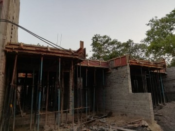 1st floor slab casting of row house no. 112 & 113 of cluster 27 have been completed  as on 04.05.2021