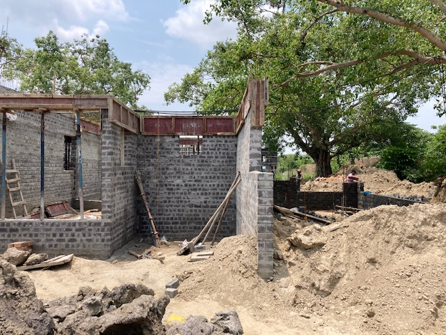 foundation of row house no. 114 of cluster 27 have been completed as on 10.05.2021