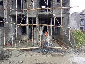 ground floor slab casting of row house no. 105 & 106  have been completed as on 21.06.2021