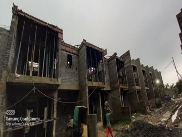Roof slab casting of row house no. 74, 75 and 76 have been completed  as on 02.07.2021