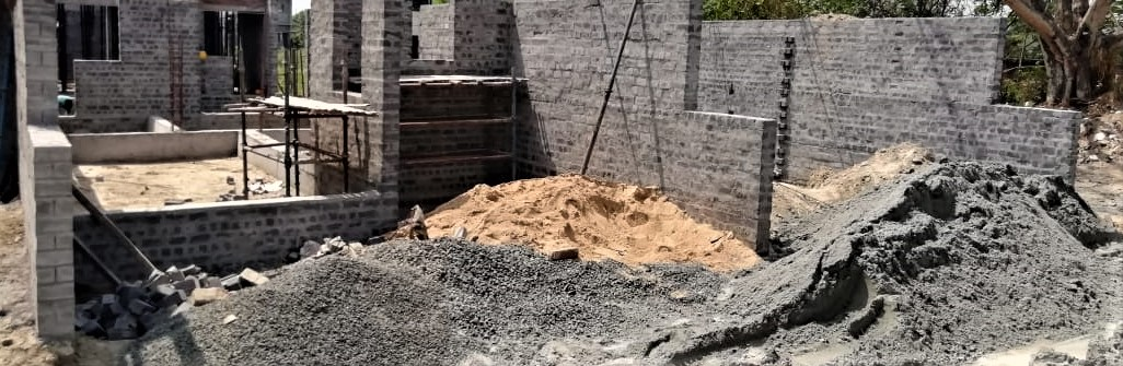 foundation of row house no. 118 & 119  have been completed as on 4.05.21