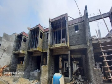 roof slab casting of row house no. 148, 149 & 150  have been completed as on 06.07.2021