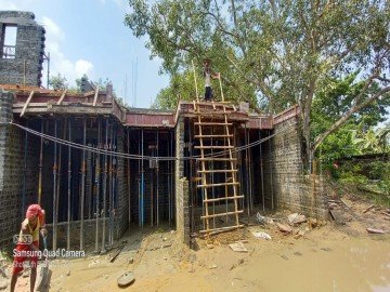1st floor slab casting of row house no. 114 & 115  of cluster 27 have been completed as on 09.07.2021