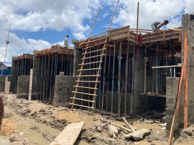 1st floor slab casting of row house no. 221, 222 and 223 have been completed as on 16.07.2021