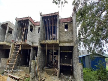 roof slab casting of row house no. 151 and 152 have been completed as on 21.07.2021