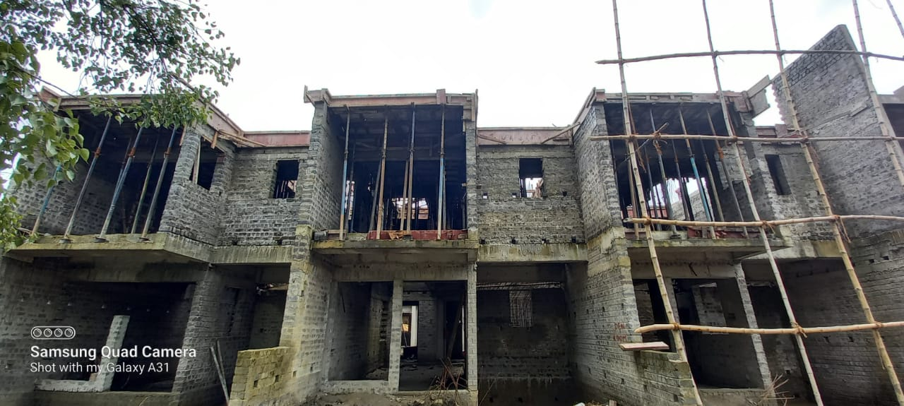 Roof slab casting of row house no. 71, 72 and 73 have been completed as on 26-7-2021
