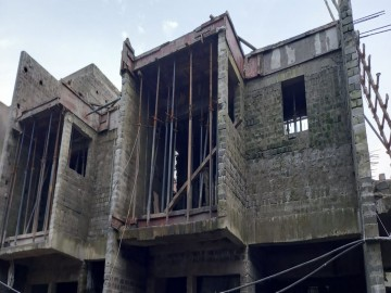 roof slab casting of row house no. 112 & 113 of cluster 27  have been completed for Nirvana as on 14.08.2021
