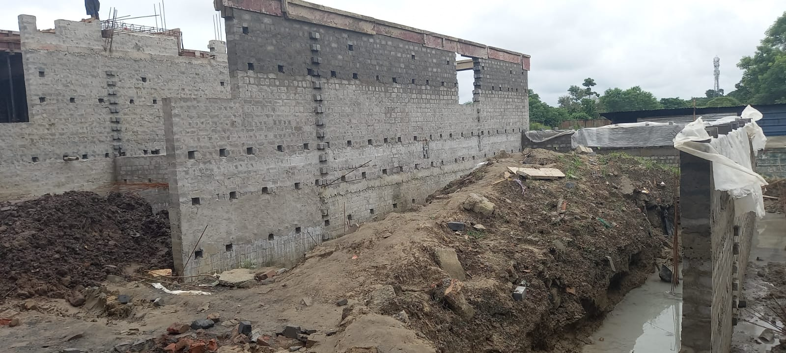 foundation of row house no. 226 & 227  have been completed as on 17.08.2021