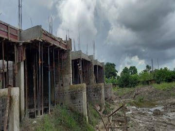 1st floor slab casting of row house no. 218, 219 and 220 have been completed as on 31.08.2021