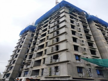 BLOCK-1: STRUCTURAL WORK – UPTO 10th FLOOR LEVEL COMPLETED.  10th to 11th FLOOR IN PROGRESS.  11th Floor Casting is completed as on 9.09.2021