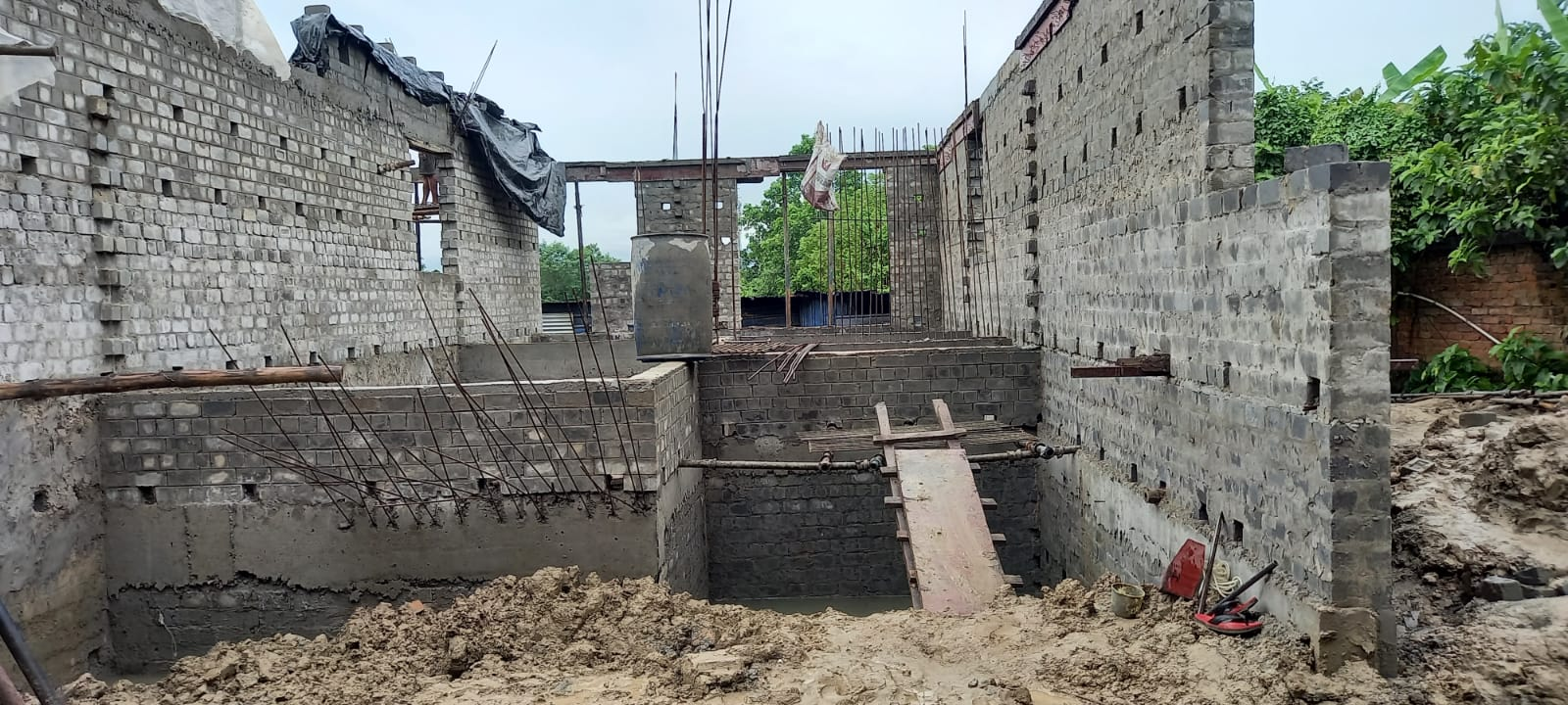 foundation of row house no. 228  have been completed for Nirvana as on 13.09.2021