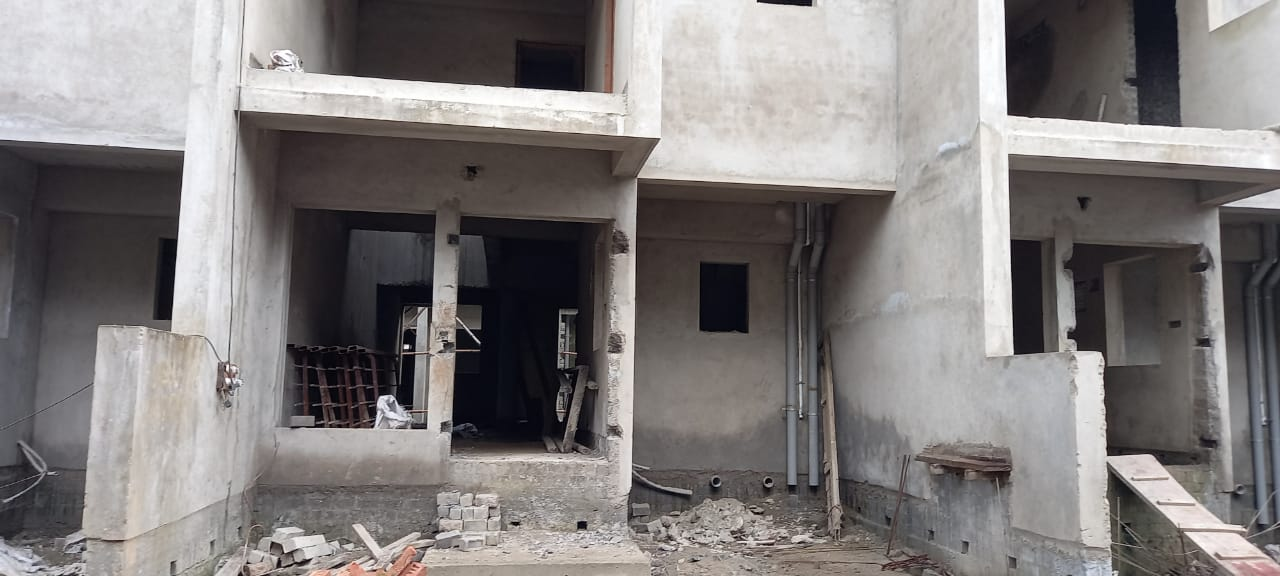 Ground floor slab casting of row house no. 142 have been completed as on 13.09.2021