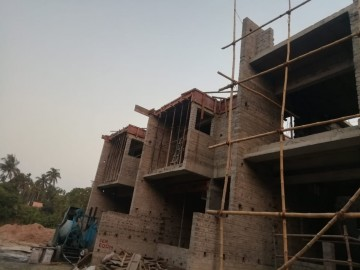 roof slab casting of row house no. 140 and 141 have been completed  as on 27.04.2021