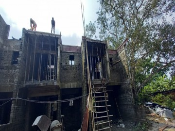 Roof slab casting of row house no. 114 & 115 have been completed as on 04.10.2021