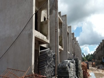 CLUSTER 39 (ROW HOUSE NO. 1-11): brickwork of row house no. 1, 2, 3, 4, 5, 6, 7, 8, 9, 10 and 11 have been completed as on 07.10.2021